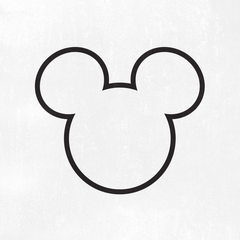 Mickey Head Outline Svg Mickey Svg Dxf Png Instant Etsy In 2021 Mickey Mouse Outline Mickey Head Mouse Tattoos