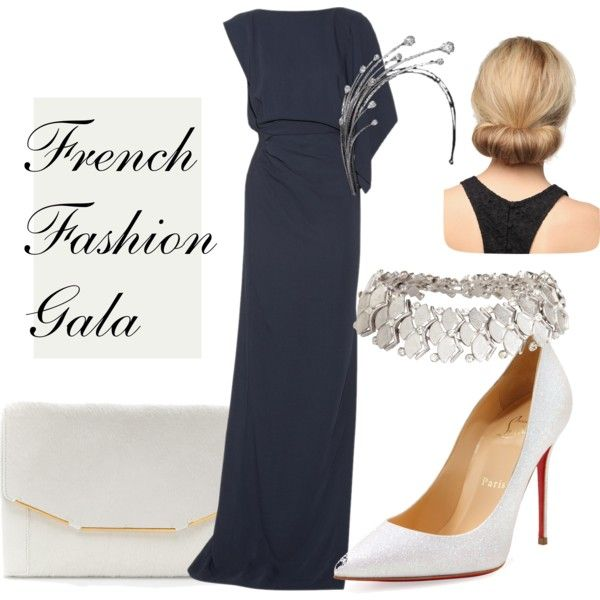 """""""Paris Royal Tour Day One: Evening at the French Fashion Gala featuring the Diamond Foam Tiara"""" by royally-fabulous on Polyvore"""