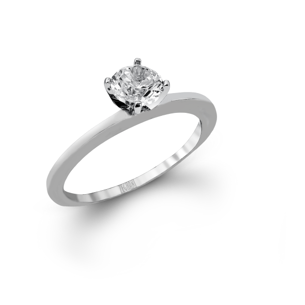 ZR480- A beautiful 14K white gold engagement ring.