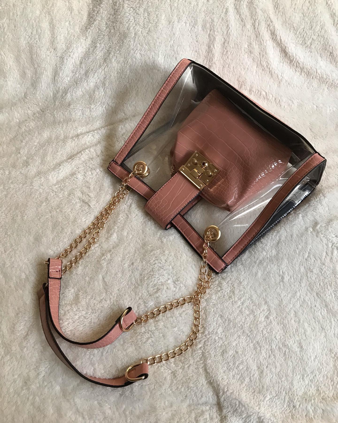 موديل جديد وصل حديثا السعر ٩٤ فقط ٢٩٠٩٢٤ لون لحمي شنطة شفافة Wallet On A Chain Wallet Bags