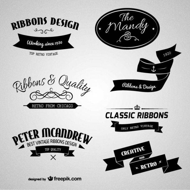 Download Retro Branding Labels For Free Vector Free Free Design Elements Vintage Logo Design