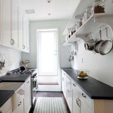16 Gorgeous Galley Kitchens Galley Kitchen Layout Kitchen Remodel Small Kitchen Remodel Layout