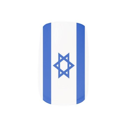 Flag of Israel Minx® Nail Art