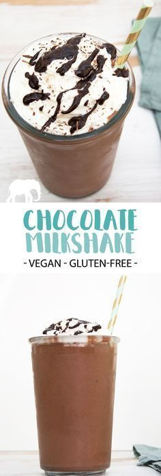 Milkshake - vegan and gluten-free |  via elephantasticv