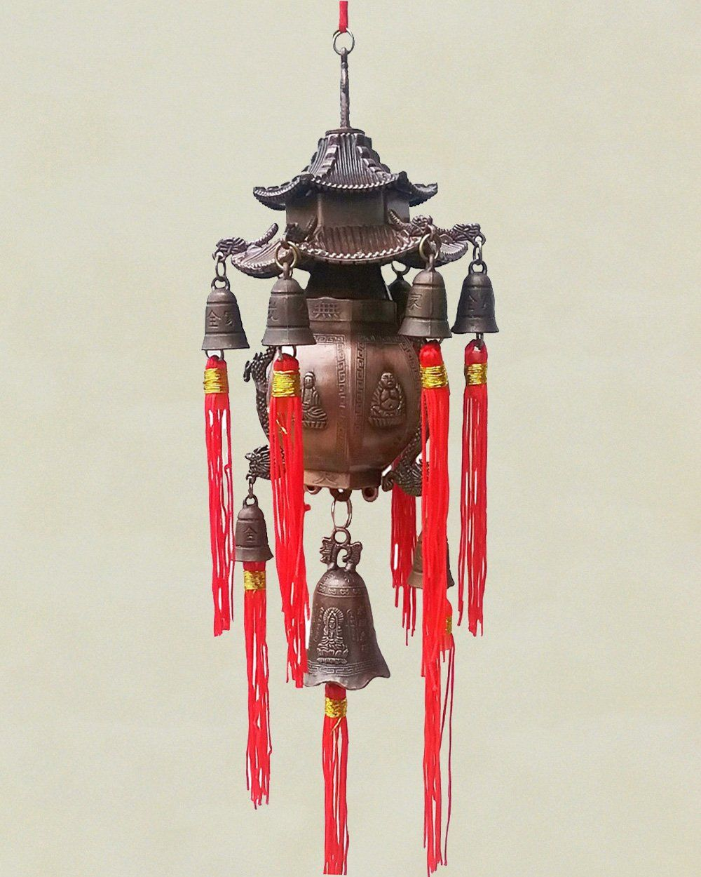 Chi Energy Feng Shui 9 Bells Pagoda Wind Chime | Wall Decor