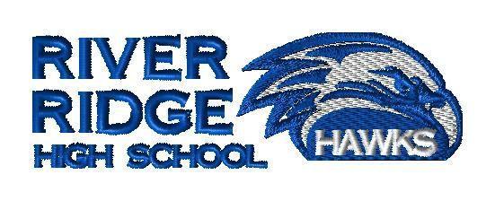 River Ridge HS Eagle Logo - Custom embroidery design for MRH