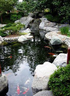 Garden And Koi Pond. Fish PondsSan DiegoPondsPools
