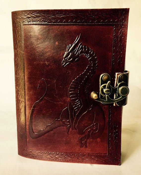 Leather bound dragon journal Dragon diary Dragon book