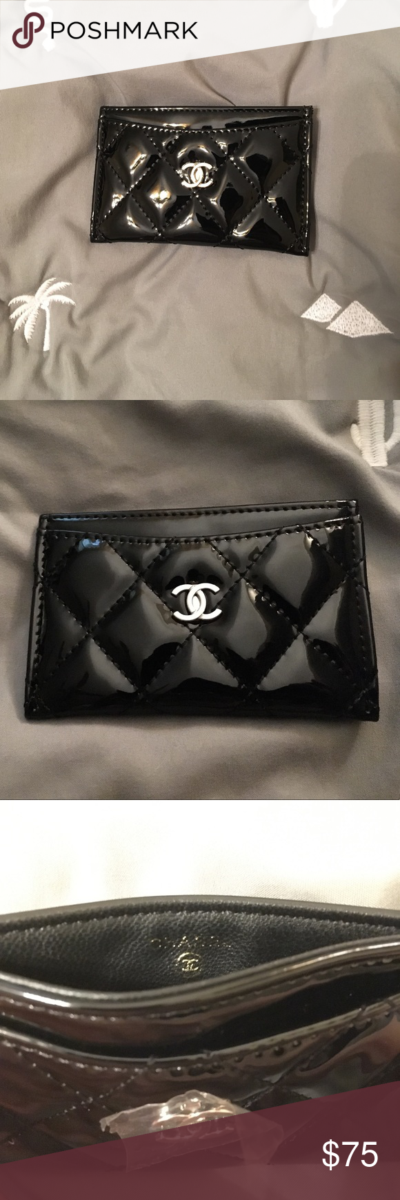 28d97883c23bbf Patent Chanel VIP gift card holder Chanel beaute beauty counter gift, does  not include box
