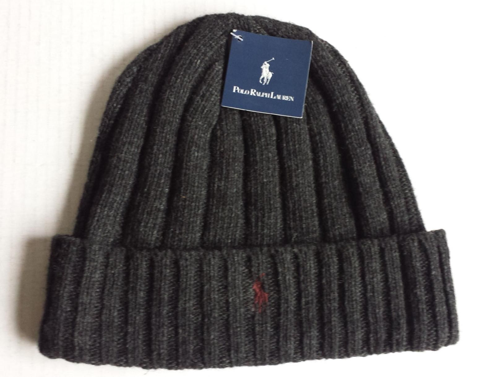 f3c088fc #POLO Ralph Lauren Beaine Hat with Cuff Charcoal Color (gray ) with Red  Logo NWT RalphLauren visit our ebay store at http://stores.ebay.com/esquir   ...