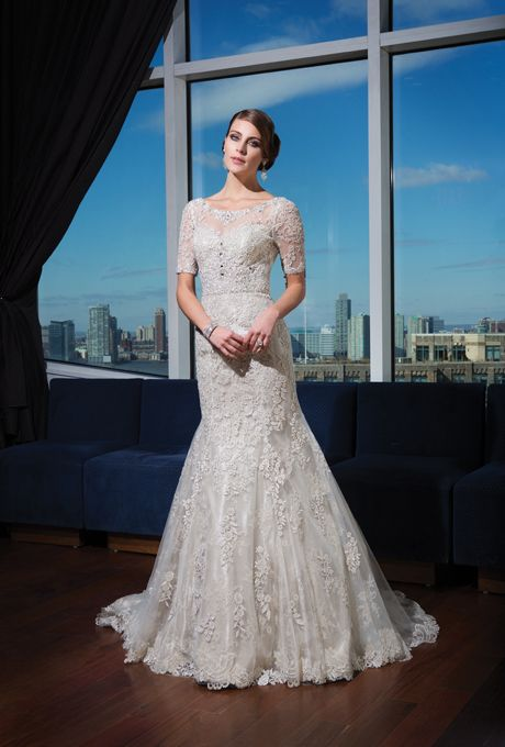 Justin Alexander Signature - Fall 2014. Style 9730, beaded lace over ...