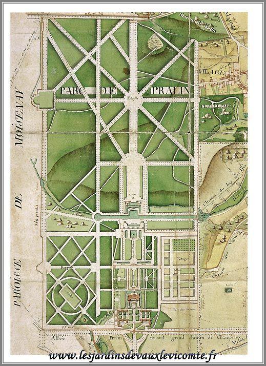 Vaux le vicomte 19 me si cle plans de jardin for Jardin 19eme siecle