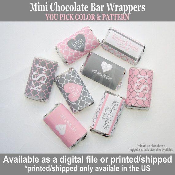 Wedding Chocolate Bar Wrers Engagement Heart Customized Digital