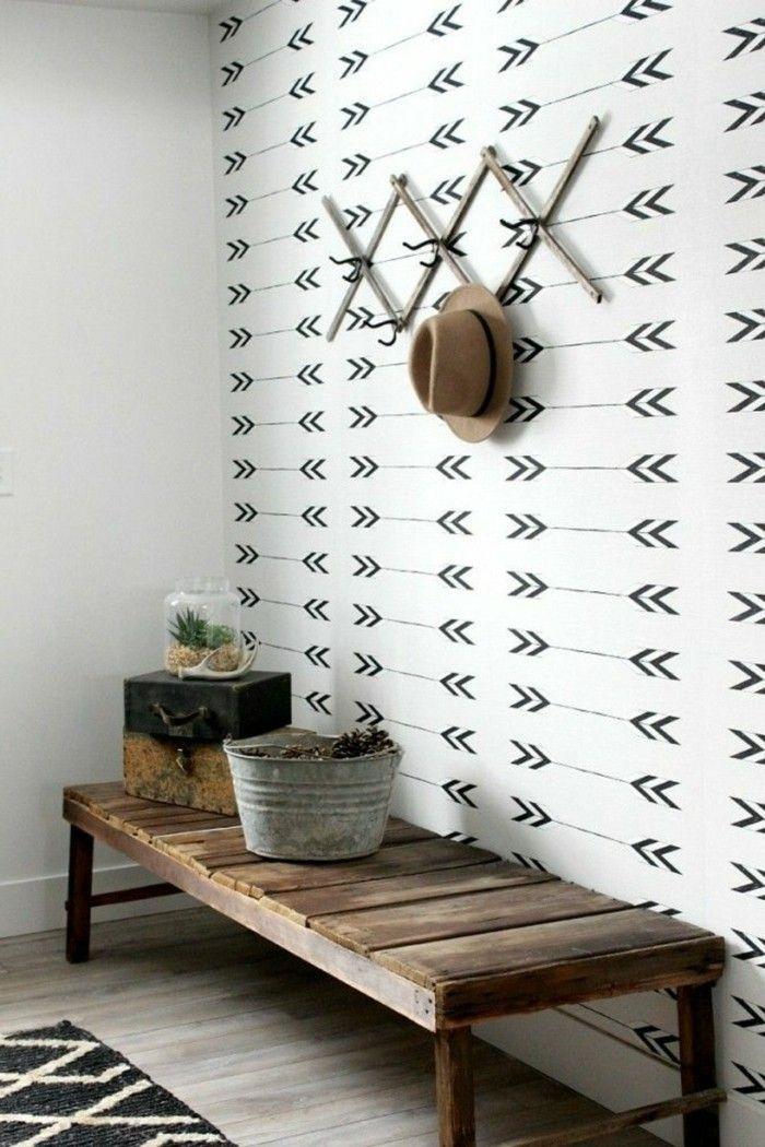 1001 tapeten flur ideen zum erstaunen und begeistern scandi pinterest tapete flur flur. Black Bedroom Furniture Sets. Home Design Ideas