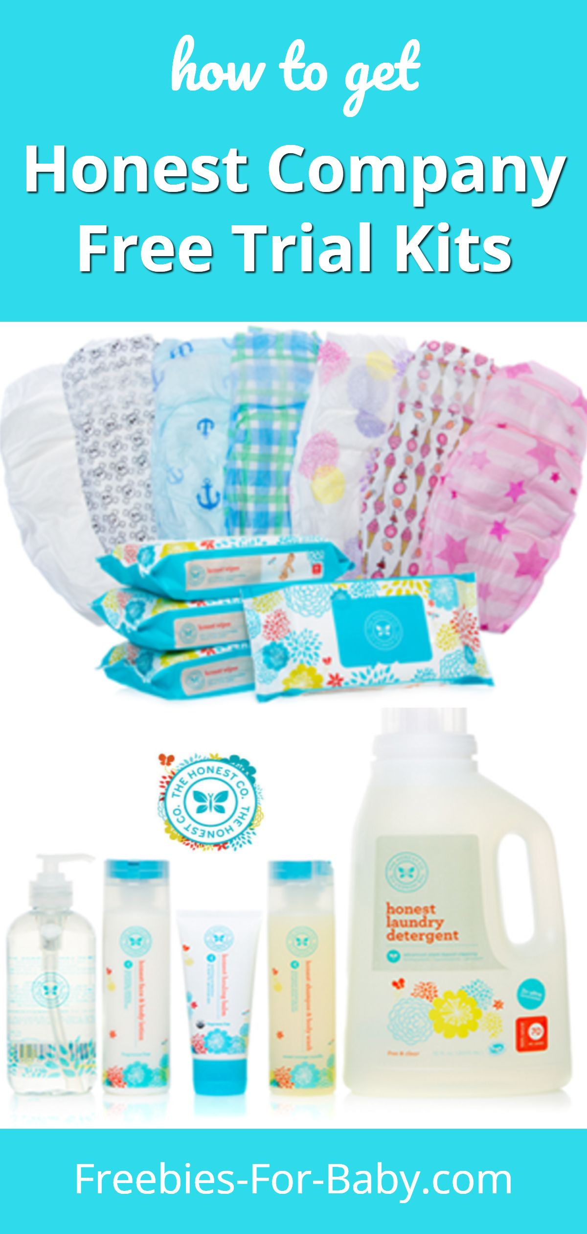 Honest Company Diapers - get free trial kits of Honest Company diapers, plus free Honest Co baby care and household products. #HonestCompany #HonestCompanyDiapers #HonestDiapers #HonestCo #HonestCoBaby