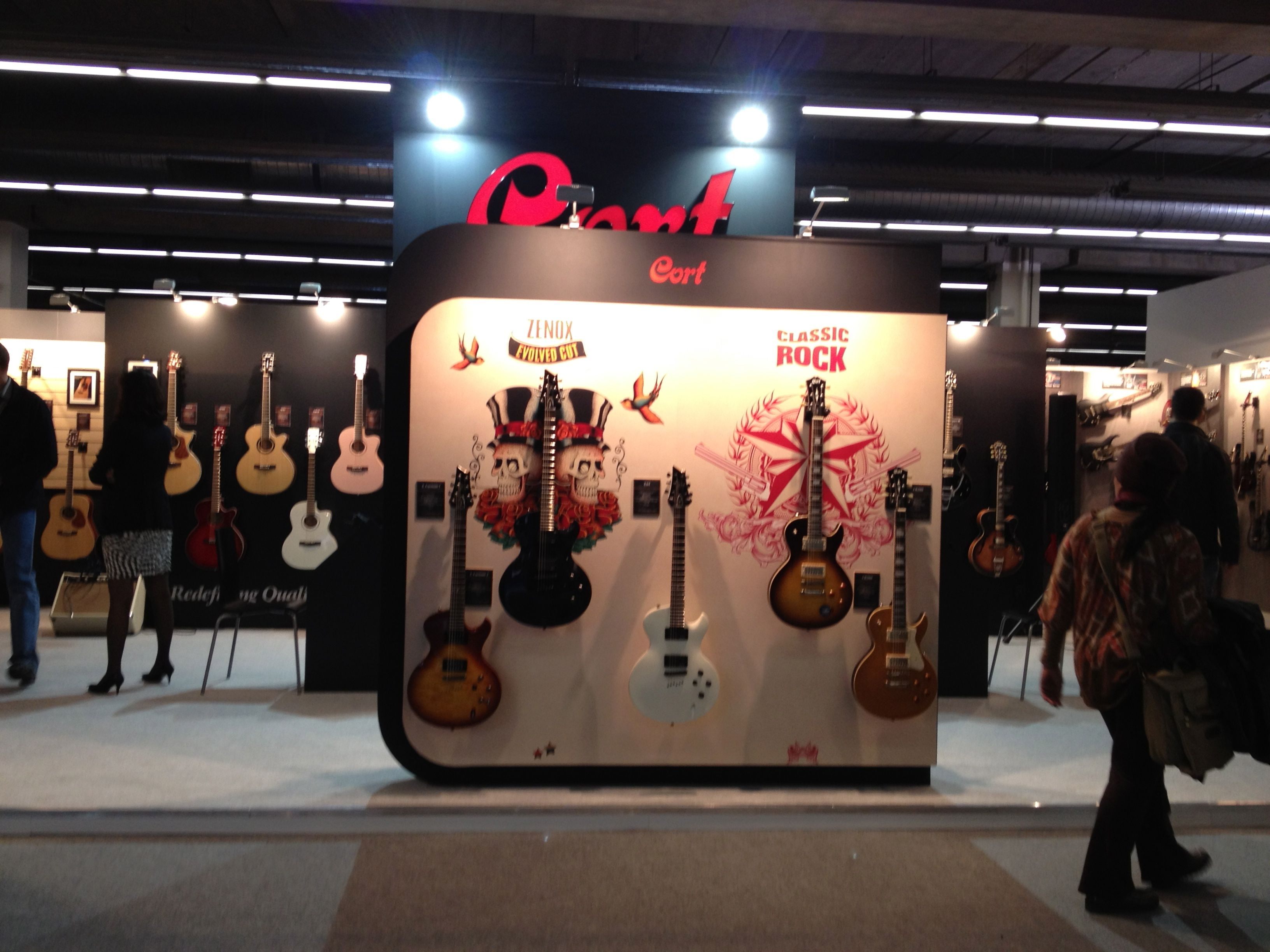 Here is a look at our booth from the Frankfurt Musikmesse musical instrument trade show in Frankfurt, Germany.