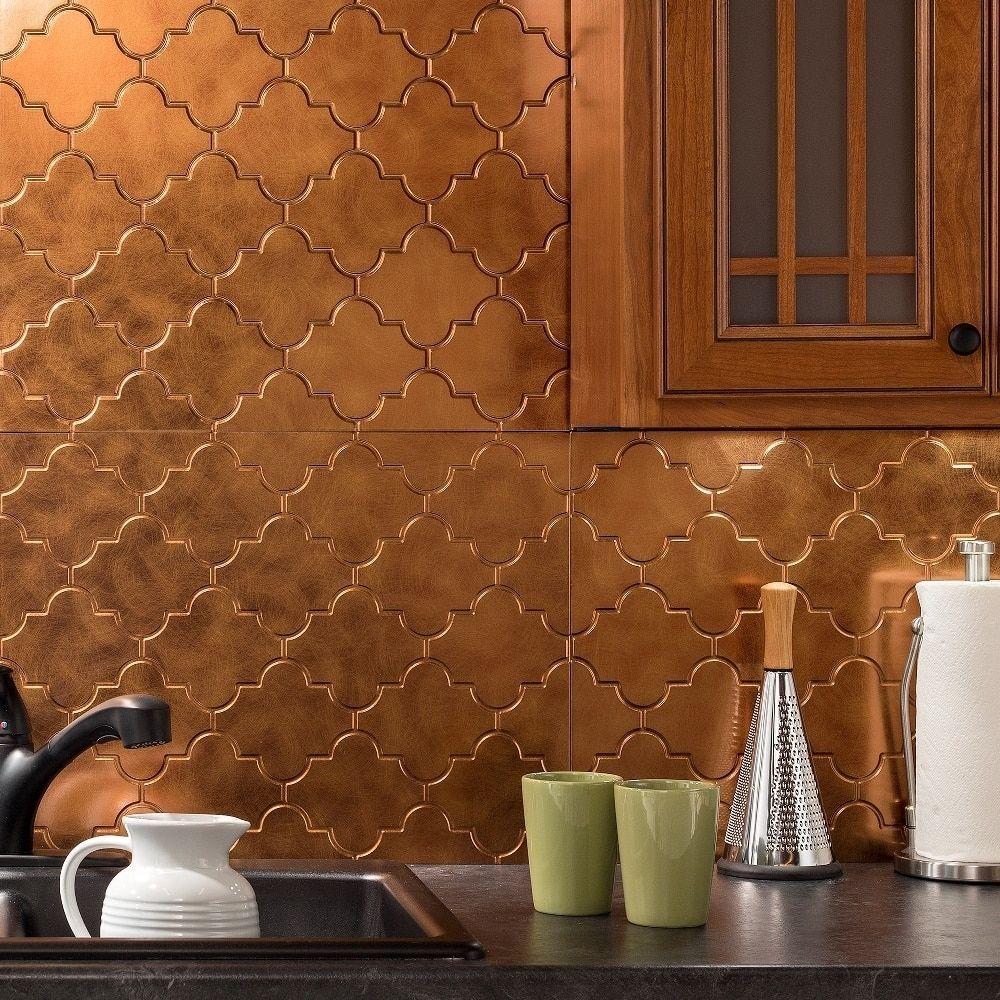 Fasade Monaco Oil Rubbed Bronze Backsplash Panel Products Kit