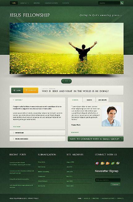Template 40365 - Jesus Modern WordPress Theme Church  Christian - calendar template for website