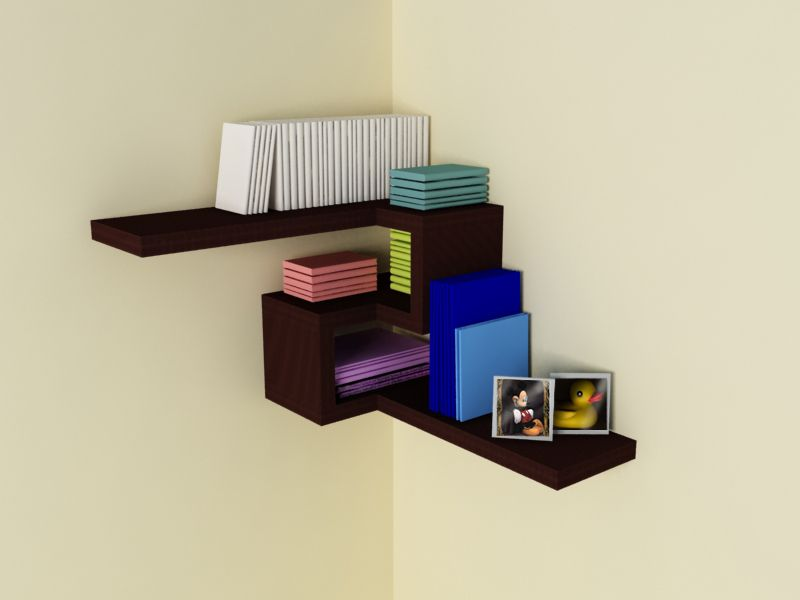 Corner Shelf - (With Gamze Derinoz and Cagrihan Ertugral) A shelf design  for the