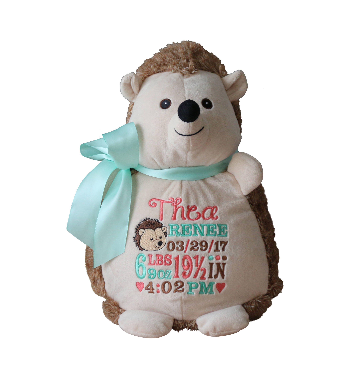 Personalized Baby Gift Hedgehog Stuffed Animal Custom Etsy Personalized Baby Gifts Baby Gifts Personalized Stuffed Animals [ 3000 x 2858 Pixel ]