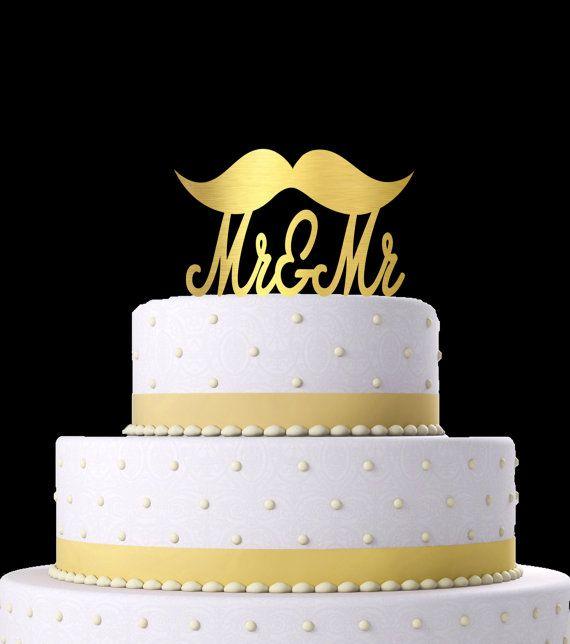 Wedding CAKE TOPPER Mustache Mr Cake Topper By KimeeKouture Burgundy WeddingIvory