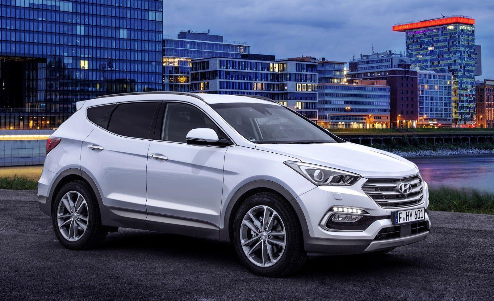 Facelifted 2017 Hyundai Santa Fe Unveiled Debuts In Frankfurt Carscoops Hyundai Santa Fe Sport Hyundai Santa Fe Hyundai Cars