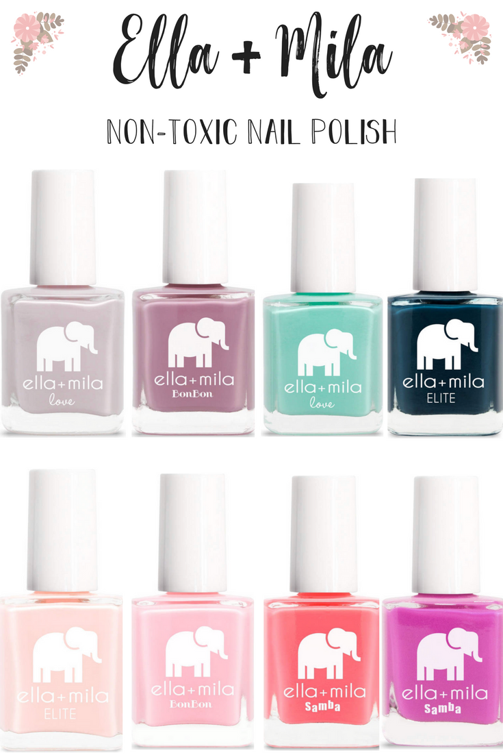 Ella + Mila NonToxic Nail Polish Review » Nail polish