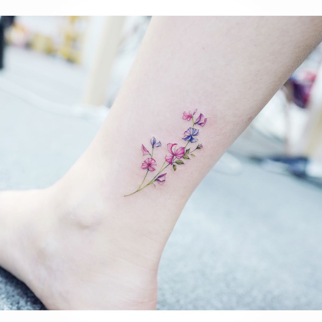 Watercolor Tattoos Korean Style Tattoos Tiny Flower Tattoos Pretty Tattoos