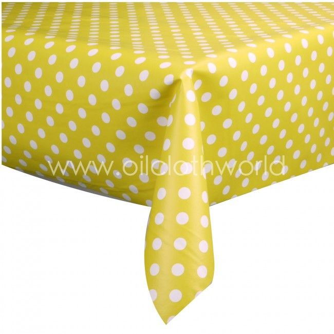 find this pin and more on kitchen ideas yellow polka dot wipe clean vinyl table cover. beautiful ideas. Home Design Ideas