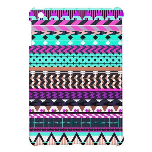 Cyan Magenta Aztec Pattern Case For The iPad Mini | Zazzle.com