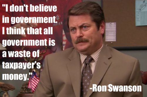 Image result for Ron Swanson on government