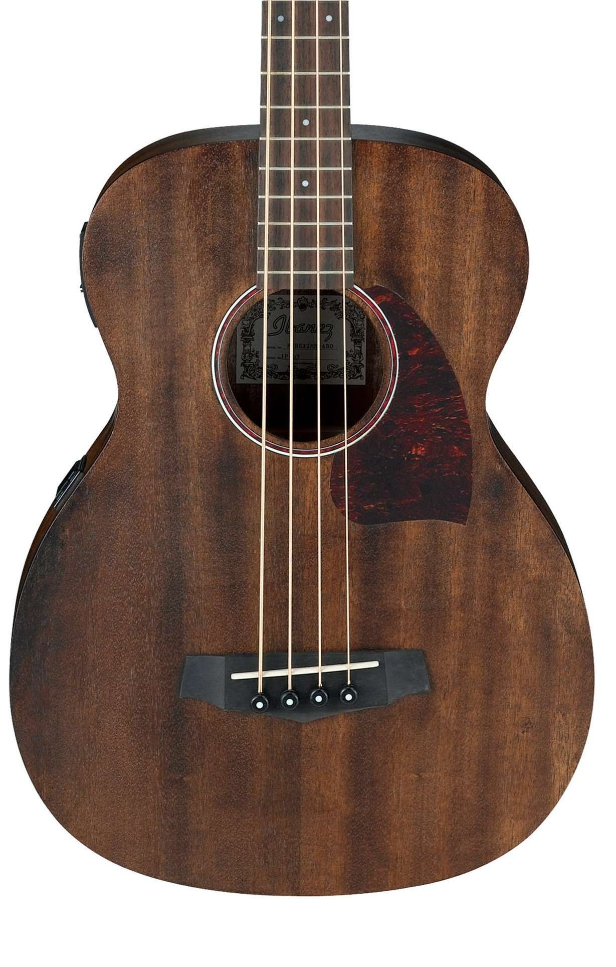 Ibanez Pcbe12mh Opn Electro Acoustic Bass Open Pore Natural Acoustic Bass Guitar Guitar Acoustic Bass