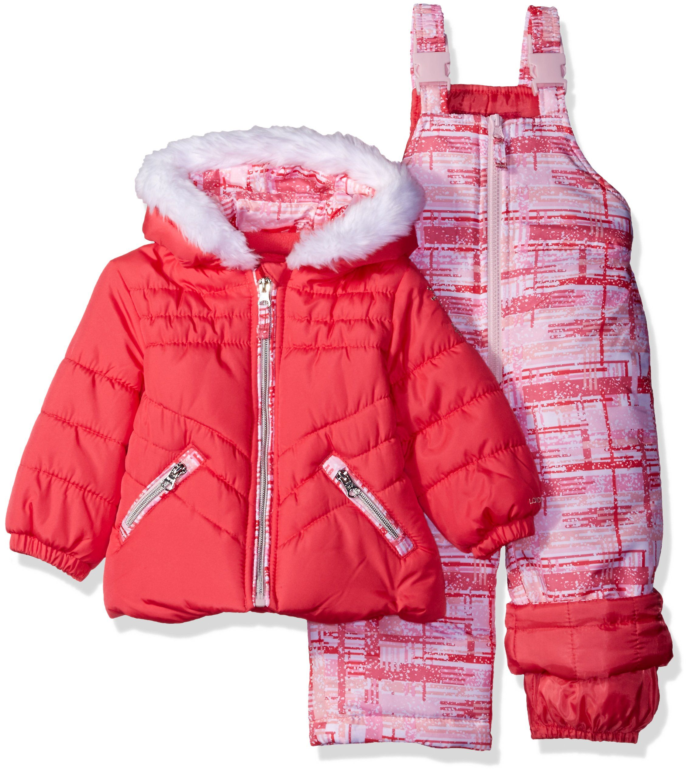 a91e70323 London Fog Baby Girls Infant 2 Piece Heavyweight Snowsuit with Abstract  Pant Coral 12M >>> To check out even more for this thing, see the image  link.