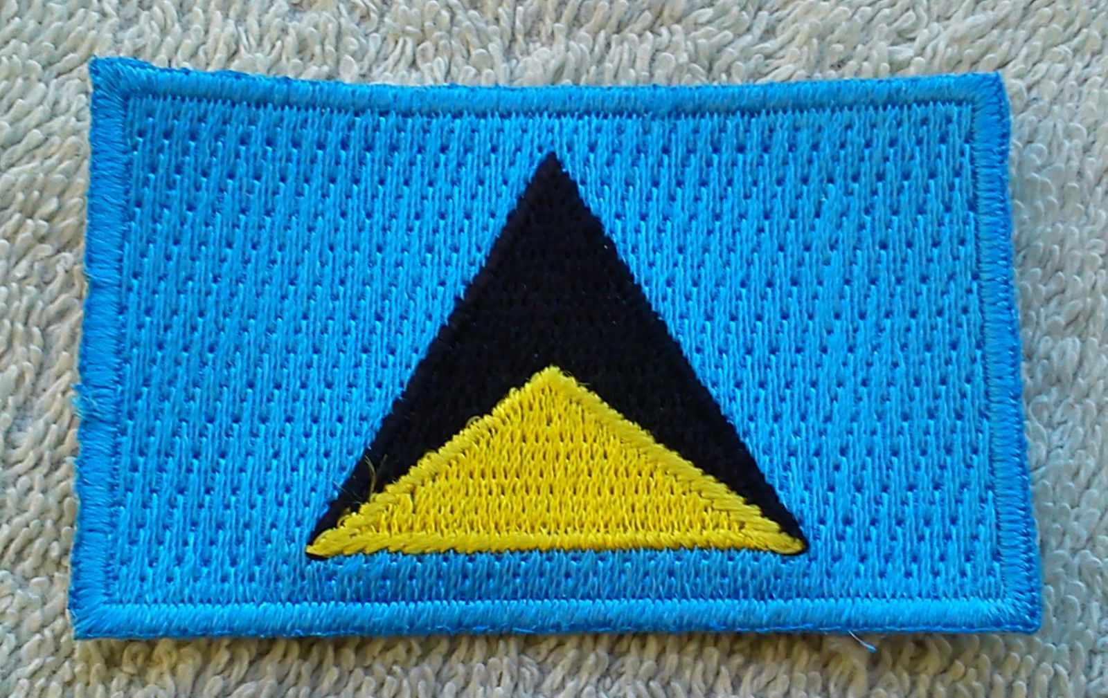 Saint Lucia Flag Patch Embroidered National Flag Iron On Patch