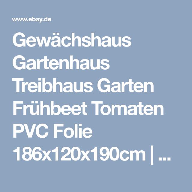 Gewächshaus Gartenhaus Treibhaus Garten Frühbeet Tomaten