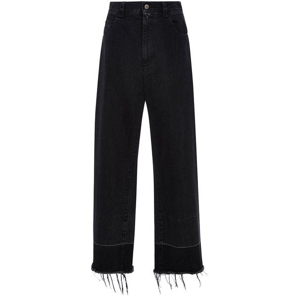 Rachel Comey Wide Legged Legion Trousers (1,520 GTQ) ❤ liked on Polyvore featuring pants, bottoms, jeans, trousers, black, highwaist pants, high-waisted wide leg pants, high-waist trousers, high-waisted pants and wide leg trousers