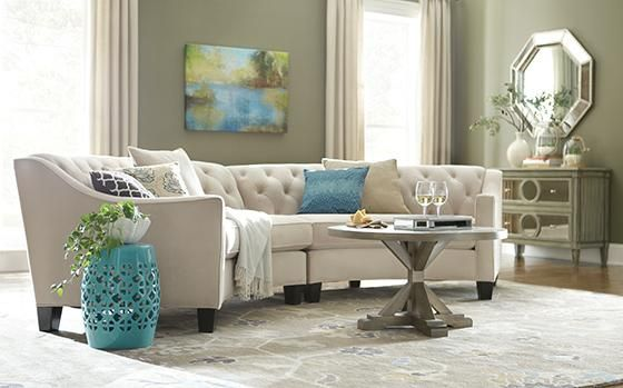Riemann Curved Tufted Sectional Complete Your Design With