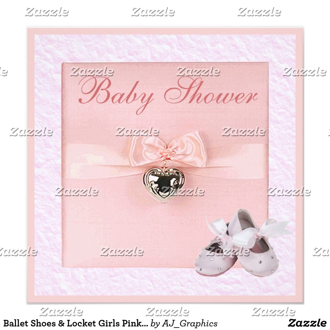 Ballet Shoes & Locket Girls Pink Baby Shower Card | Baby ballet and ...