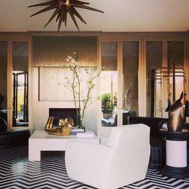 Kelly Wearstler Beach House: Black, White, Brass - Kelly Wearstler