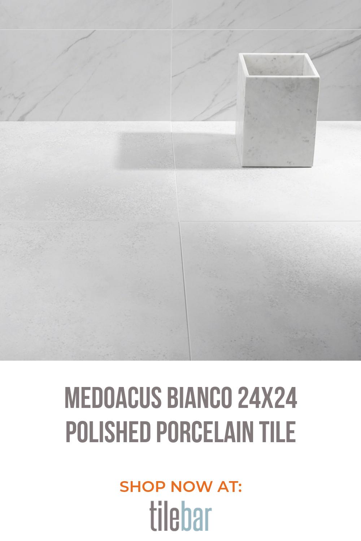 bianco 24x24 polished porcelain tile
