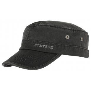 83dcb0b7be6 Military cap from Stetson with washed-out look in trendy colours. Datto  Army Cap by Stetson with fast shipping   money back satisfaction guarantee.