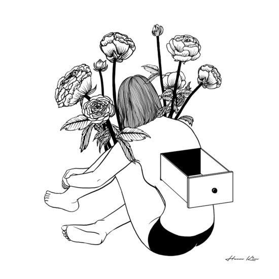 #hennkim #henn #art #illustration #drawing #sketch #black #white #pen #inspire…