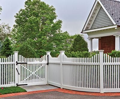 Radius Chestnut Hill Fence With Annisquam Scallop Wood Solid