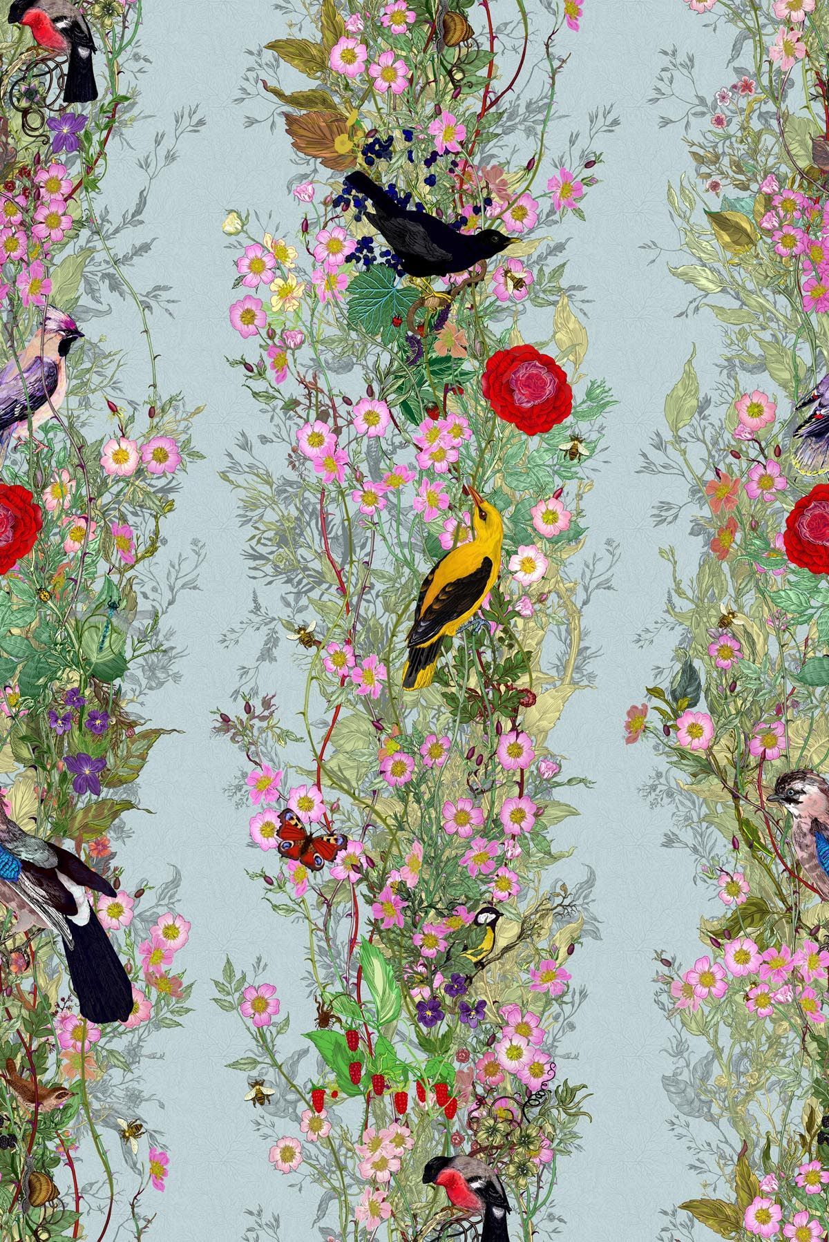 the fruit looters wallpaper. as part of their 25th year in textiles