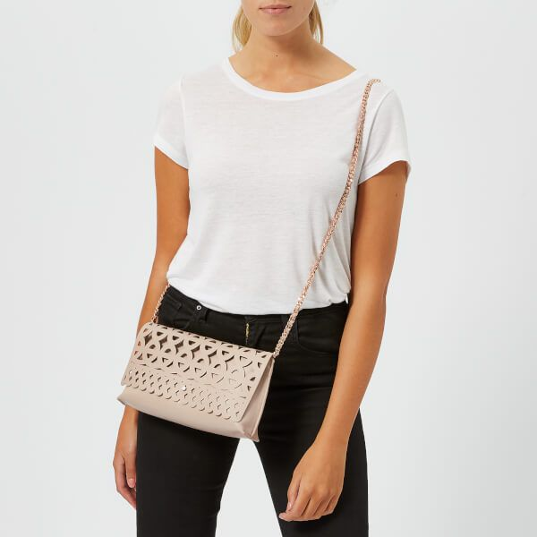 28f677bd6a4 Ted Baker Women s Sallia Cut Out Detail Clutch Bag - Taupe