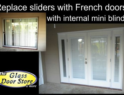 Replace Sliding Gl Doors With French Garden