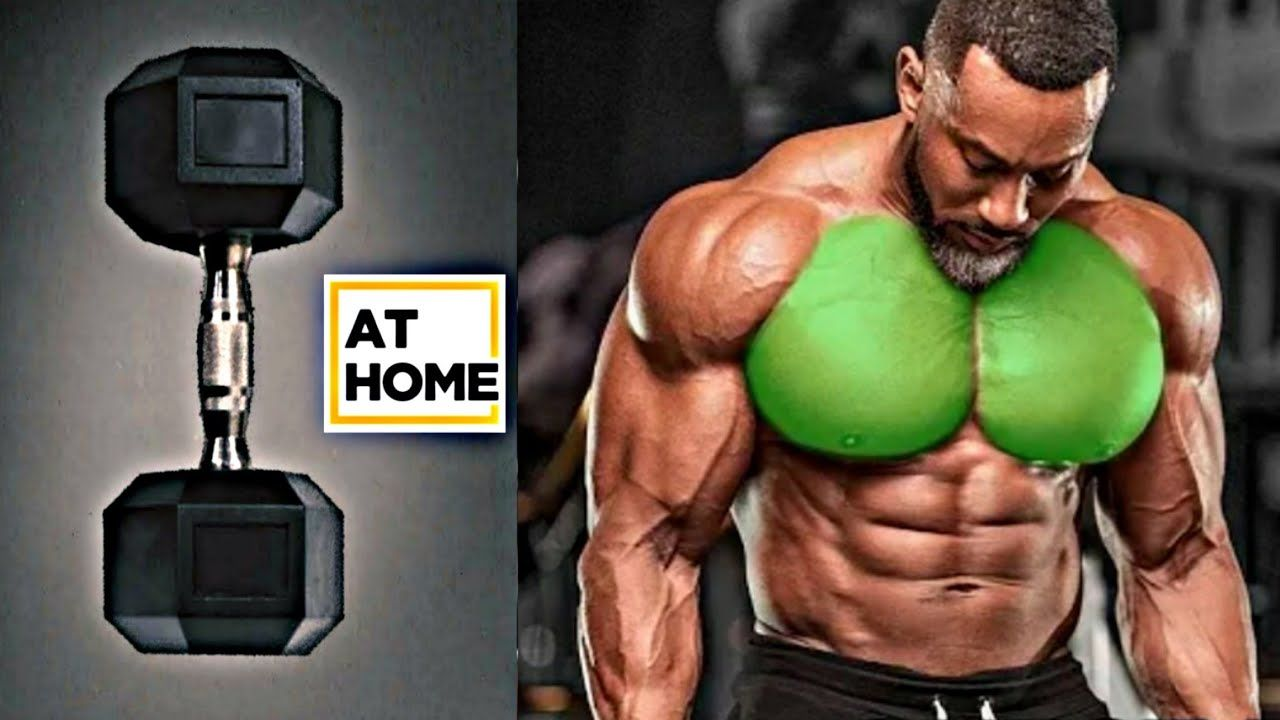 8 Best CHEST Exercises AT HOME (DUMBBELLS ONLY) | 8 The