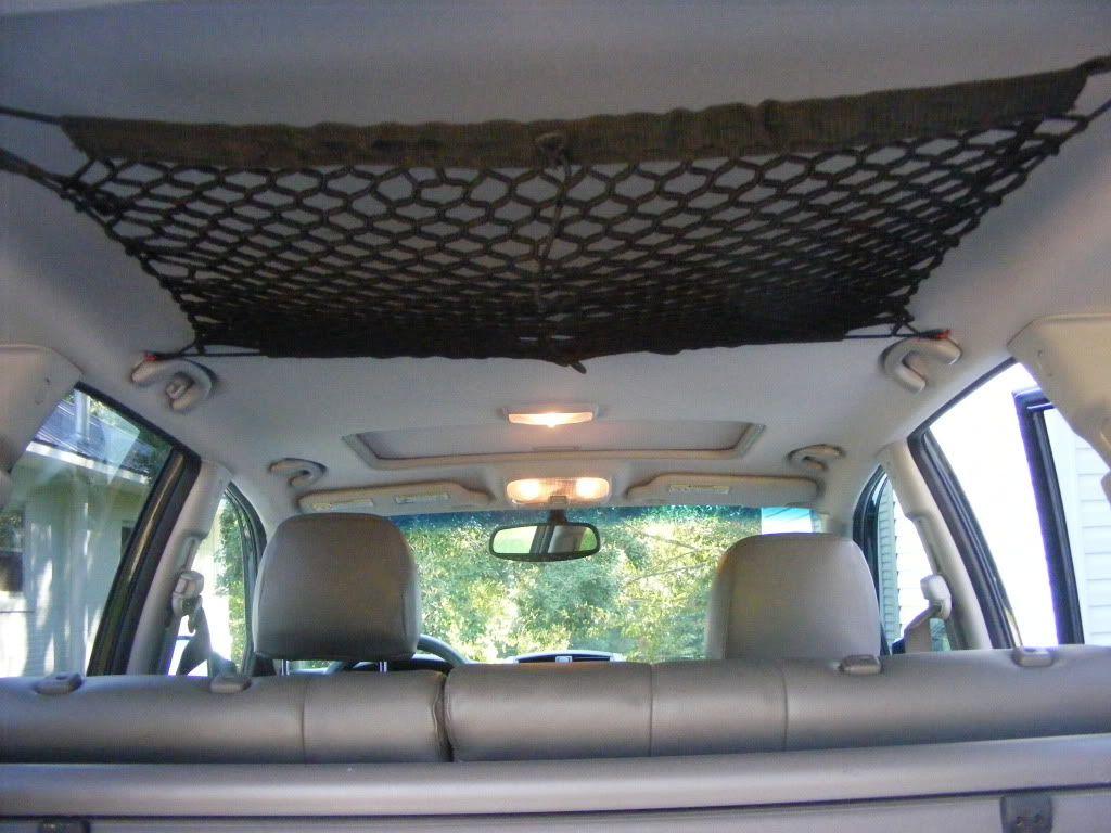 Standard Suv Cargo Net Attached To Overhead Suv Camping Suv Camper Car Camper