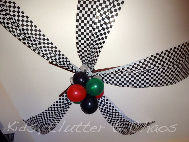 Race car ceiling decorations race carcars party pinterest race car ceiling decorations aloadofball Image collections