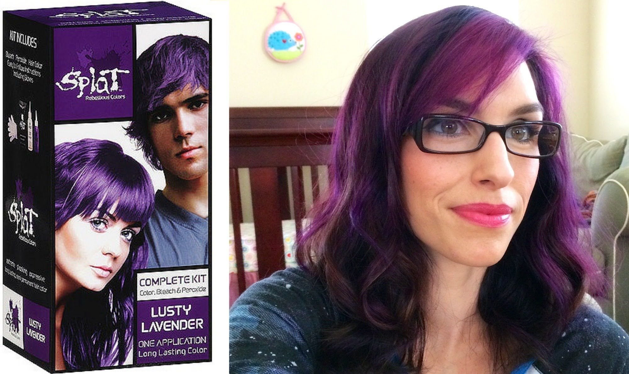 Splat Hair Dye Review And Demo Lusty Lavendar Defiantly Wouldn T Do It All Over I M Not That Brave Lol Splat Hair Dye Homemade Hair Color Scene Hair Colors